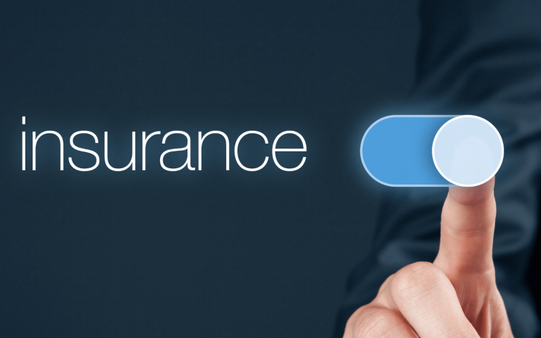 Man sliding insurance button